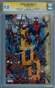 Ultimate Spider-man #100 CGC 9.8 Signature Series Signed Mark Bagley Marvel comic book